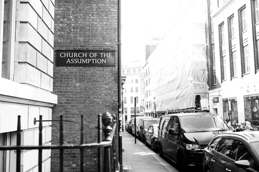 An image of the Church of the Assumption on Warwick Street - wedding photography by Sam of Hansford Carter, a Kent wedding photographer