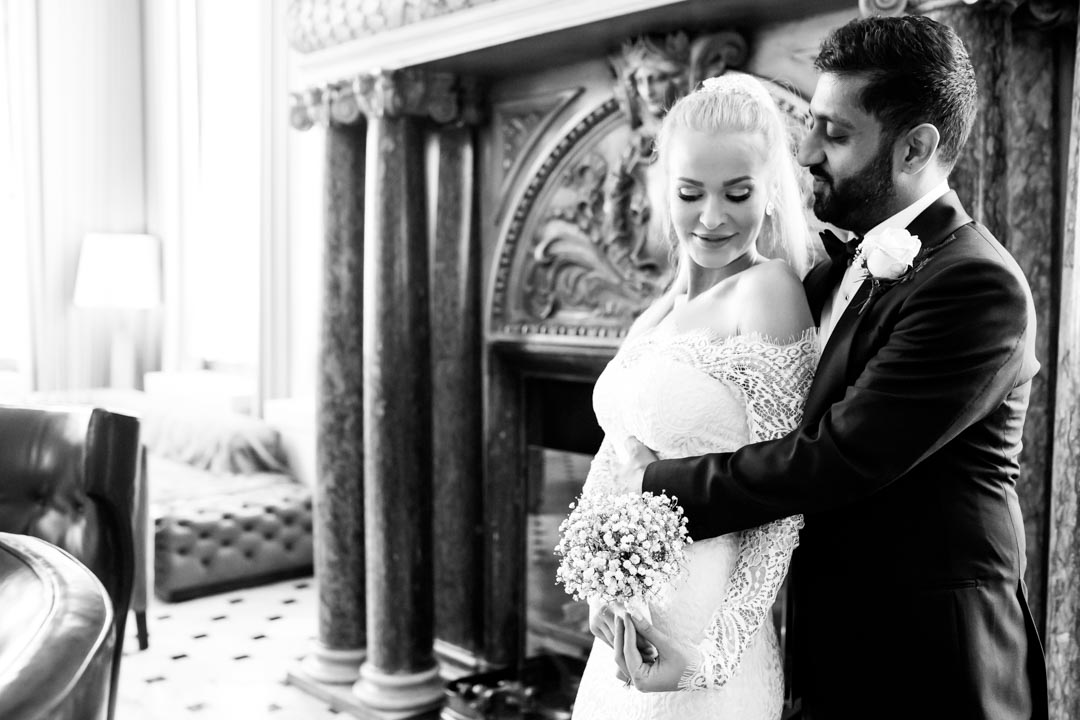 An image of the happy couple in The London EDITION - wedding photography by Sam of Hansford Carter, a Kent wedding photographer