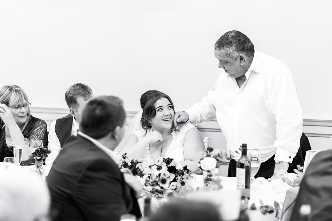 An image of the speeches - wedding photography by Sam of Hansford Carter, a Kent-based wedding photographer