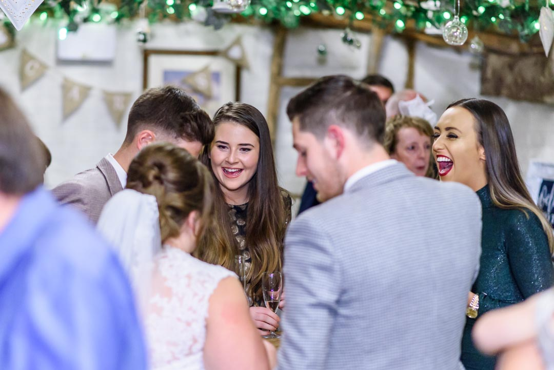An image of the reception - wedding photography by Sam of Hansford Carter, a Kent-based wedding photographer