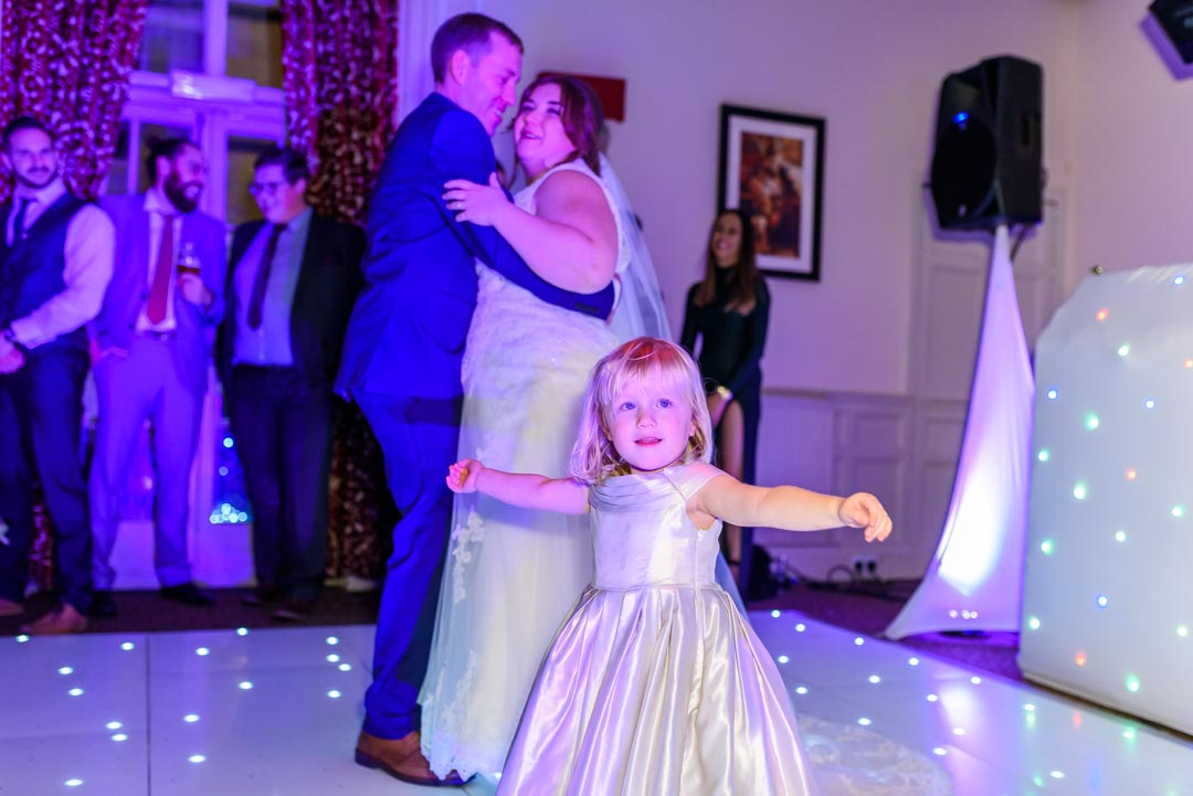 An image of the first dance - wedding photography by Sam of Hansford Carter, a Kent-based wedding photographer